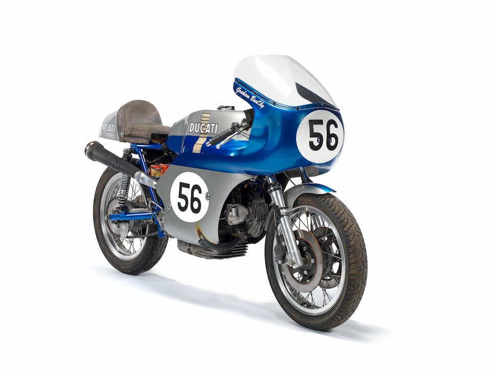 The Ducati Corse factory race department-built, spare bike for the factory race team at the 1973 Bol d'Or 24-Hours, ex-Doug Lunn, Percy Tait, Steve Cull, Graham Boothby, Isle of Man TT, Irish Road Racing Championship, North West 200, ,1973  Ducati  750cc Works Endurance Racing Motorcycle Frame no. 3 (see text) Engine no. 752389 DM750