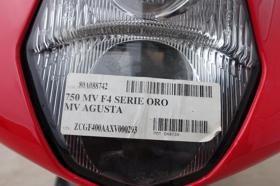 2003 MV Agusta F4 750 Series Oro Frame no. ZCGF400AAXV000293
