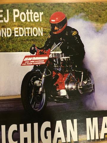 "1971 EJ Potter Chevrolet V8 ""Widow Maker 7"" Dragbike"