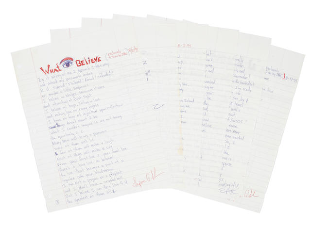 A pair of Tupac Shakur handwritten letters