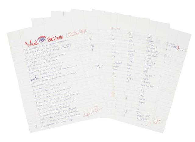 A pair of Tupac Shakur handwritten letters