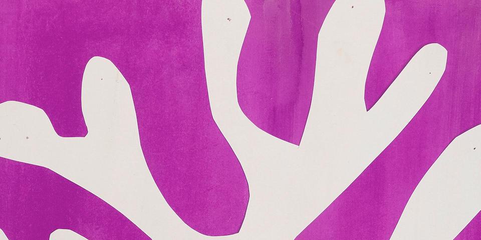 HENRI MATISSE (1869-1954) Arbre de neige 16 x 10 1/4 in (40.5 x 26.3 cm) (Created in 1947)