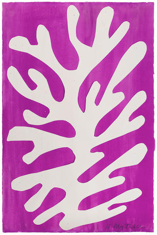 HENRI MATISSE (1869-1954) Arbre de neige 16 x 10 1/4 in (40.5 x 26.3 cm) (Created in 1947)