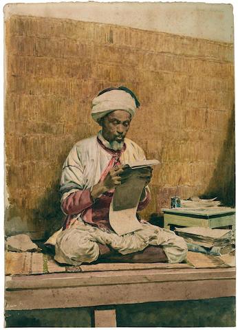 Santiago Arcos y Megalde (Chilean, 1865-1912) The Scholar