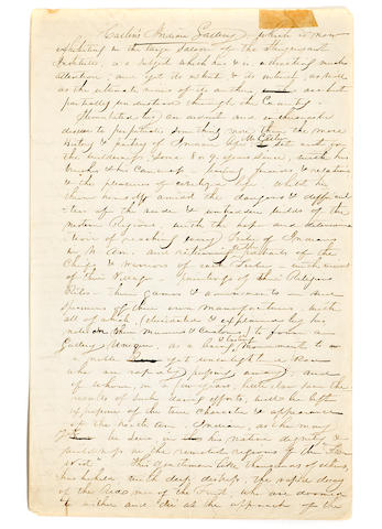 "CATLIN, GEORGE. 1796-1872. Autograph Manuscript Signed integrally (""Catlin's Indian Gallery""), possibly a circular to government officials, regarding his proposed History Museum,"