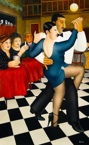 Beryl Cook (British, 1926-2008) Tango in Bar Sur 48 x 30in (122 x 76cm)