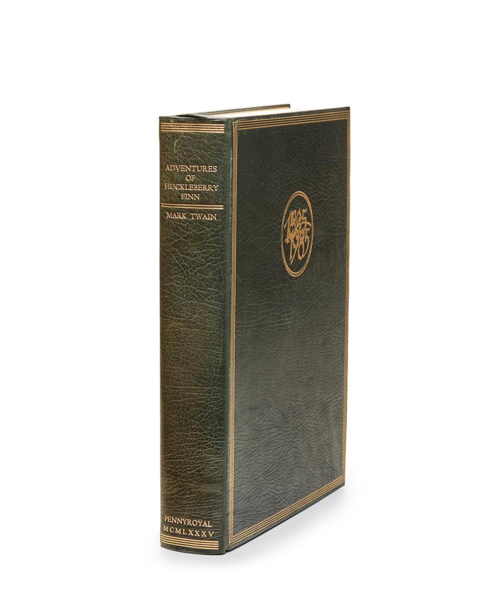 MOSER, BARRY. B.1940. CLEMENS, SAMUEL. Adventures of Huckleberry Finn. West Hatfield: Pennyroyal Press, 1985.