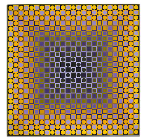 Victor Vasarely (Hungarian/French, 1906-1997) Alom-2 1967
