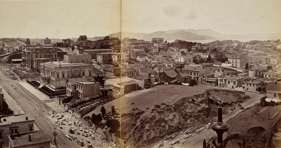 Eadweard Muybridge (1830-1904); Panorama of San Francisco from California St. Hill;