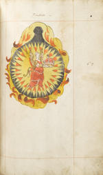 ALCHEMY. [The Crowning of Nature, or Coronatio Naturae.] Original alchemical manuscript on paper, ruled in red, with watermark of the arms of Schieland [see Heawood 481], folio (320 x 200 mm), 87 pp comprised of three sections: