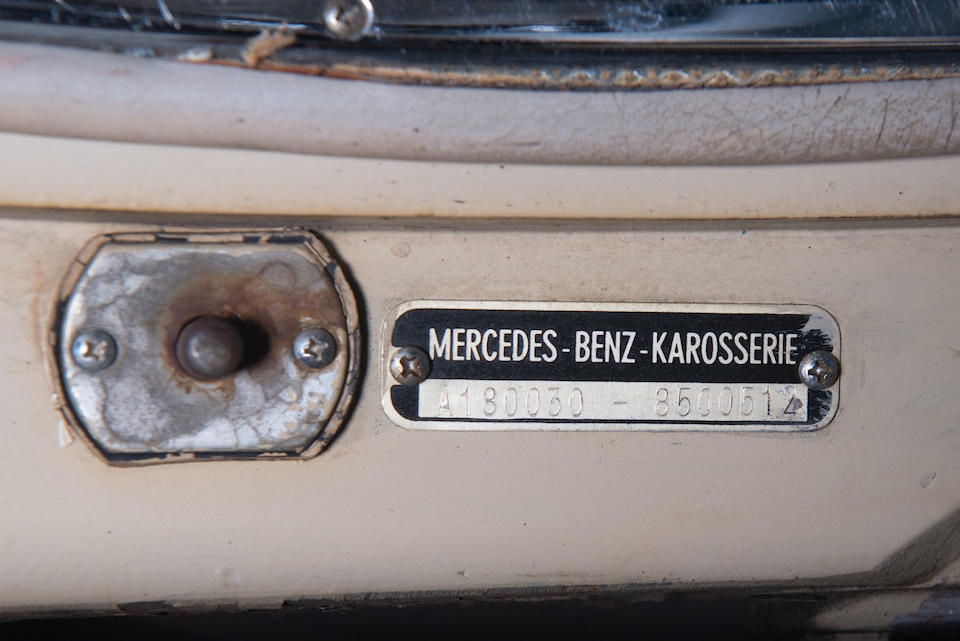 <b>1958 Mercedes-Benz  220S Cabriolet</b><br />Chassis no. 8512711<br />Engine no. 180-924-8509423