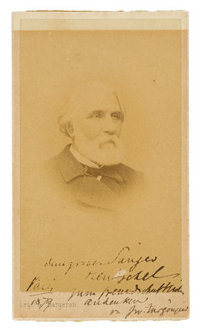 Bonhams TURGENEV IVAN 1818 1883 Photograph Signed Iw