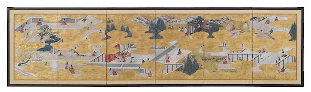 Anonymous (19th/20th century) Scenes from the Tales of Genji
