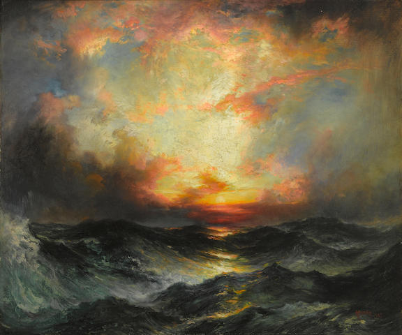 Thomas Moran (1837-1926) Sunset at Sea 24 3/8 x 30 3/8in