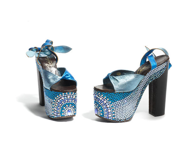 A pair of platform shoes worn by Cher
