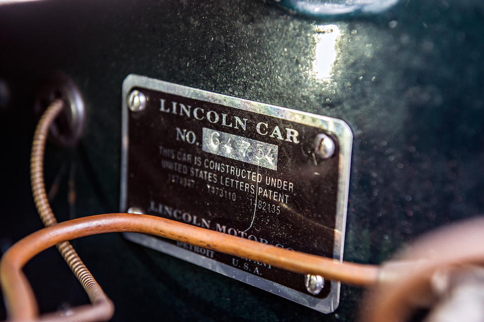 <b>1930 LINCOLN MODEL L CONVERTIBLE ROADSTER</b><br />Chassis no. 64754