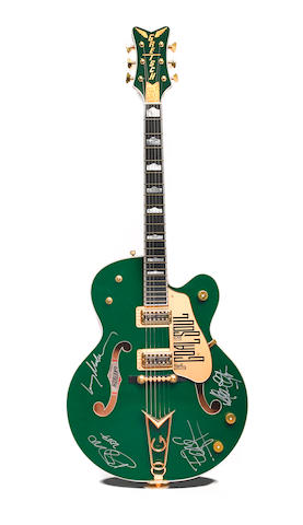 "A Gretsch ""Irish Falcon"" electric guitar signed by U2"