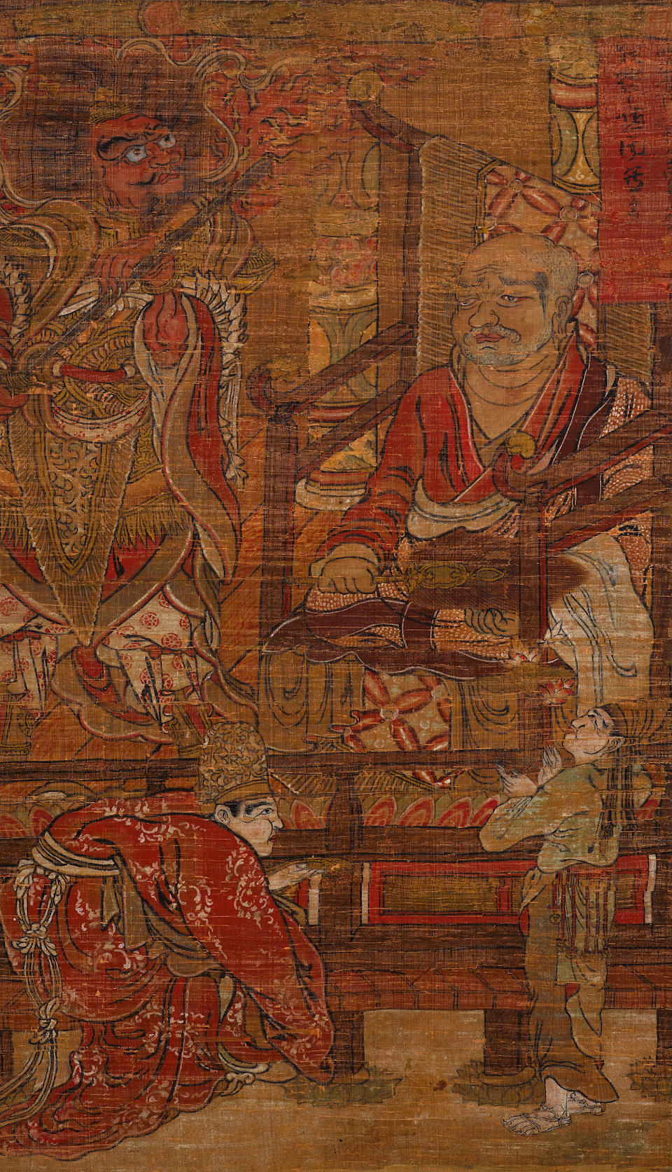Bonhams : A set of 16 hanging scrolls of Rakan Japanese