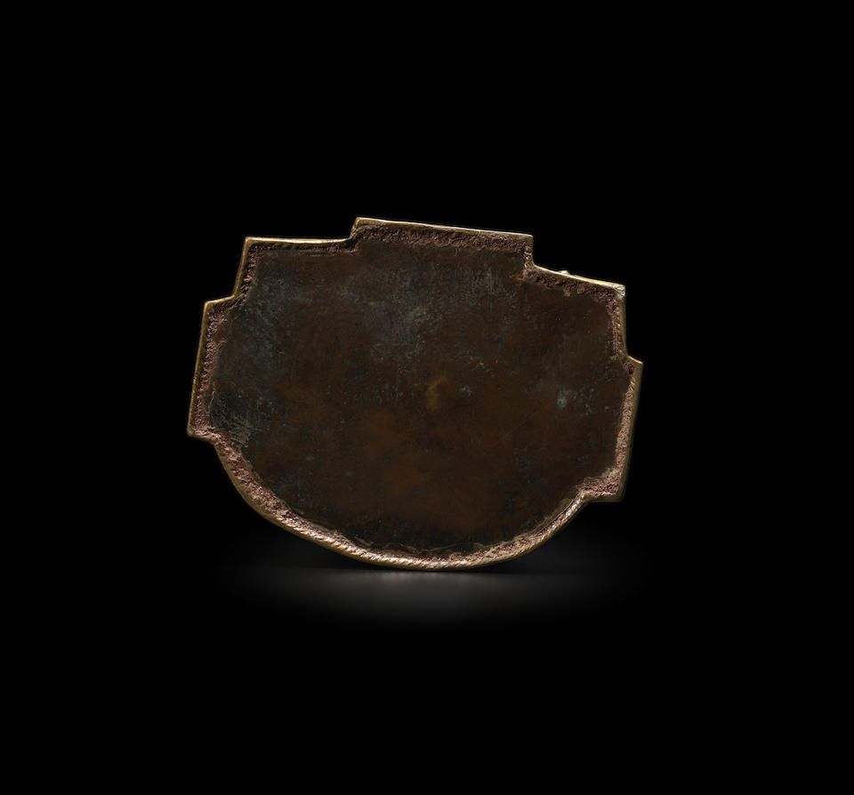 A GILT COPPER ALLOY FIGURE A DRUKPA OR DRIGUNG KAYGU LAMA TIBET, CIRCA 14TH CENTURY