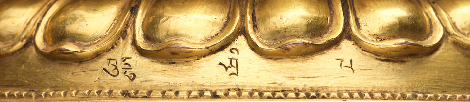 A GROUP OF SIX SAKYA LAMDRE LINEAGE MASTERS TIBET, CIRCA 15TH CENTURY