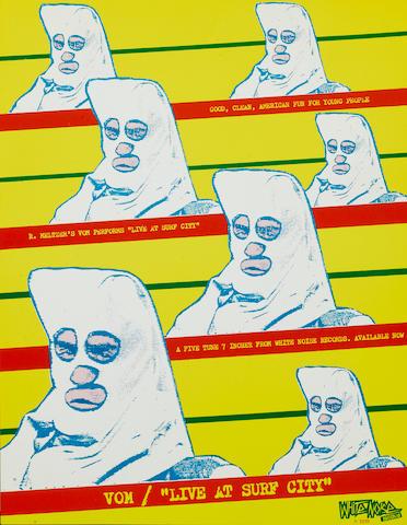 a Vom Live at Surf City album promotional flyer