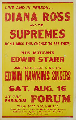 """A """"Diana Ross and the Supremes"""" poster"""