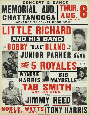 A Little Richard concert poster