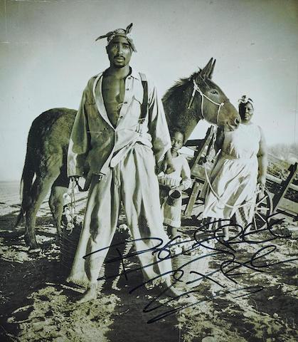 A Tupac Shakur signed photograph
