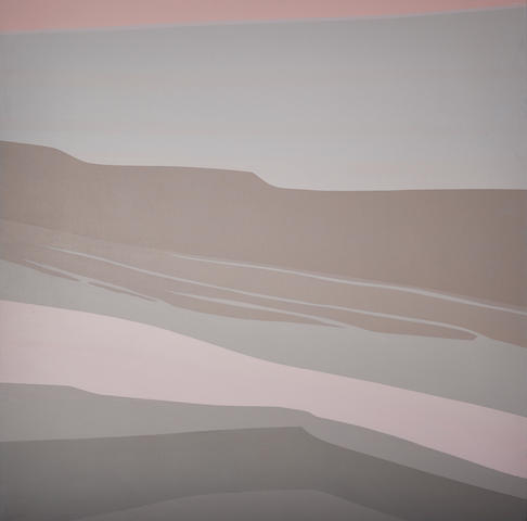 Helen Lundeberg (1908-1999) Pink River, 1985 60 x 60 1/8 in. (152.4 x 152.7 cm) unframed