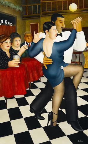 Beryl Cook (British, 1926-2008) Tango in Bar Sur