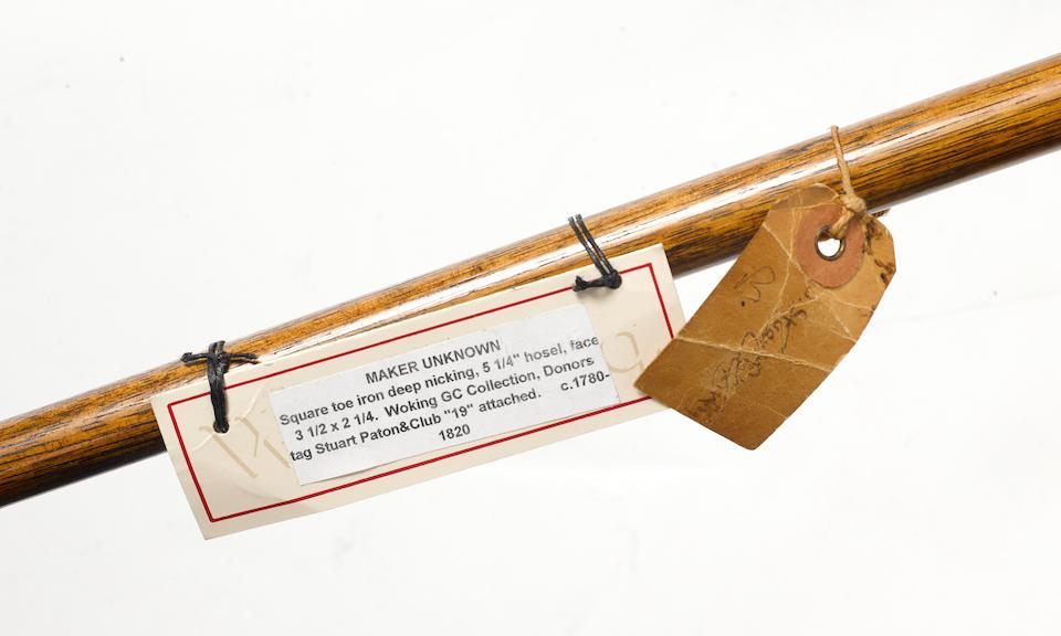 MAKER UNKNOWN: A SQUARE TOE IRON CIRCA 1770-1780