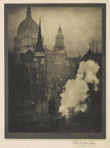 Alvin Langdon Coburn (1882-1966); St. Paul's from Ludgate Circus, London;
