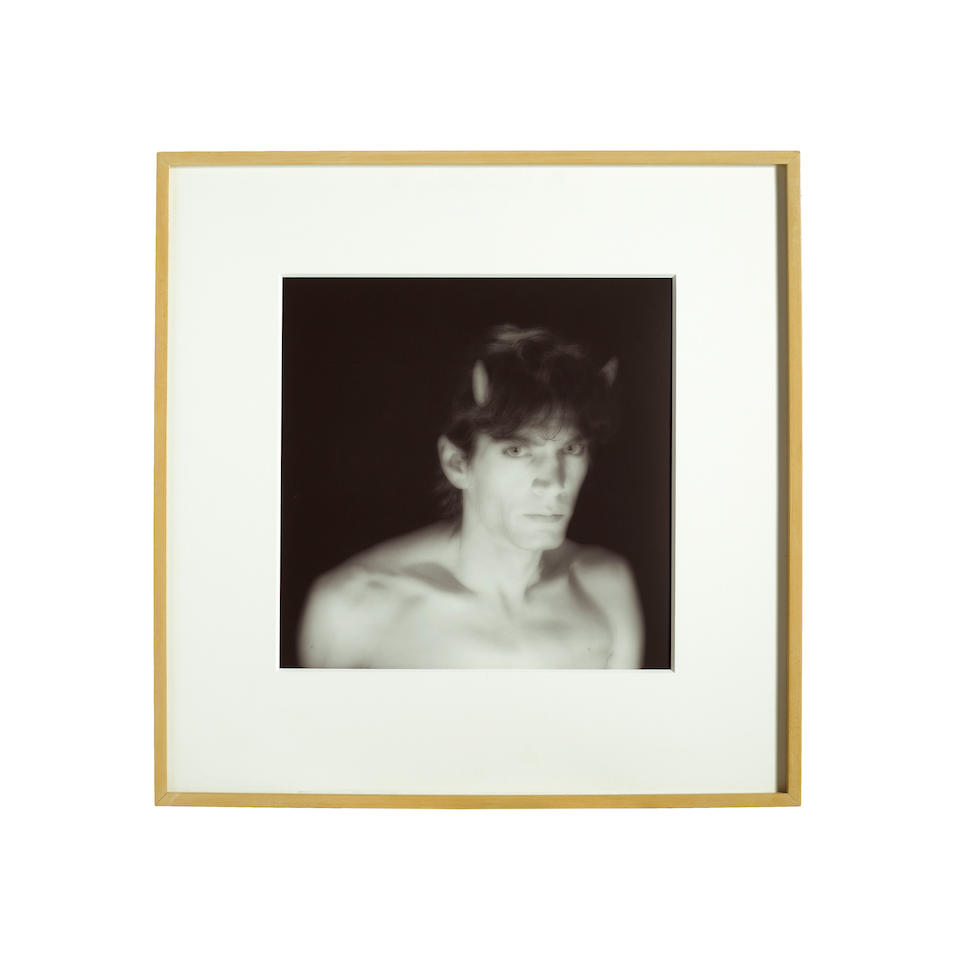 Robert Mapplethorpe (1946-1989); Self-Portrait with Horns;