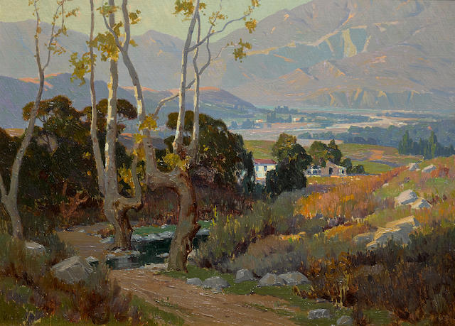 Elmer Wachtel (1864-1929) Santa Paula Valley 22 x 30in overall: 29 1/2 x 37 1/2in