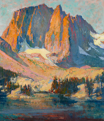 Franz Arthur Bischoff (1864-1929) Mount Alice 34 1/2 x 30in overall: 41 3/4 x 37 1/4in (Painted circa 1920)