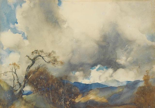 Sir William Russell Flint, RA, PRWS (British, 1880-1969) Glorious March 15 1/2 x 21 1/2in (39.5 x 54.5cm)