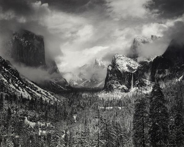 Ansel Adams (1902-1984); Clearing Winter Storm, Yosemite National Park;