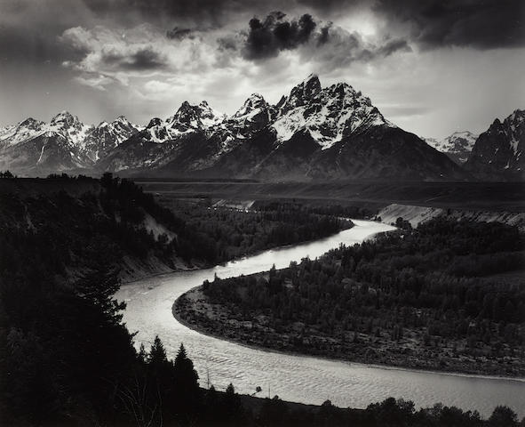 Ansel Adams (1902-1984); The Grand Tetons and the Snake River, Grand Teton National Park, Wyoming;