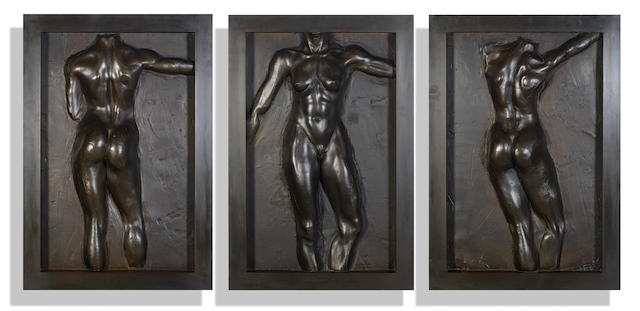 Robert Graham (1938-2008) Olympic Gateway Plaques, 1984 (3) 30 7/8 x 21 1/8 x 4 in. (78.4 x 54 x 10.2 cm); 30 7/8 x 21 1/8 x 3 1/2 in. (78.4 x 54 x 8.9 cm); 31 1/8 x 21 1/4 x 3 1/2 in. (79.1 x 54 x 9 cm)