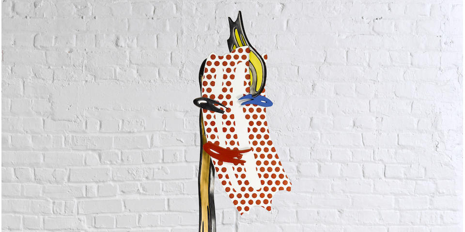 ROY LICHTENSTEIN (1923-1997) Brushstroke Head I, 1987 (This work is number five from an edition of six, plus one artist's proof.)
