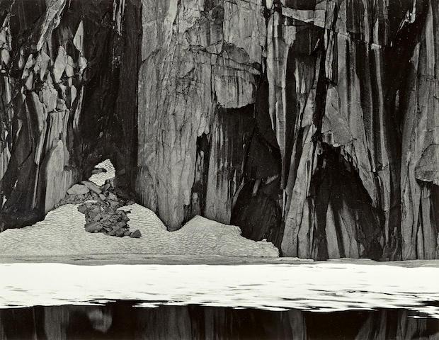 Ansel Adams (1902-1984); Frozen Lake and Cliffs, Kaweah Gap, Sierra Nevada, California;