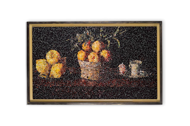 Vik Muniz (born 1961); Still Life with Lemons, Oranges, and a Rose, after Francisco de Zurbarán, from Pictures of Magazines;