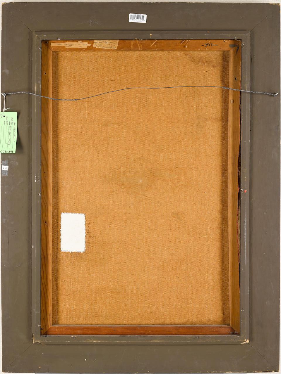 ROY LICHTENSTEIN (1923-1997) The Flying Machine, 1954 36 x 23 5/8 in. (91.4 x 60 cm)