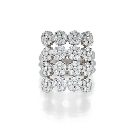 A diamond and platinum ring, MiMi So
