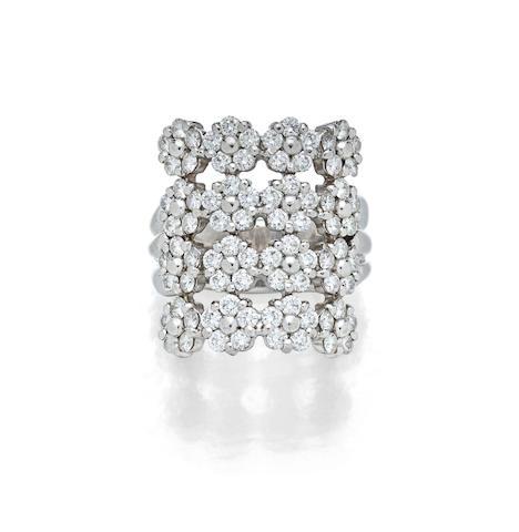 A diamond and platinum ring, MiMi So