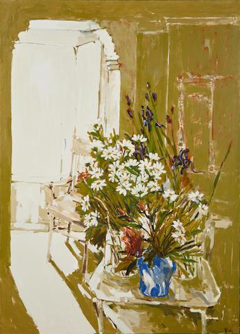 Viola Frey (American, 1933-2004) Untitled, circa 1960 68 x 47 3/4 in. (172.7 x 121.3 cm)