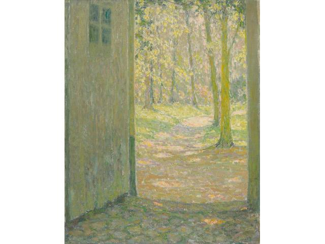 Henri Le Sidaner (1862-1939) Petite porte de Trianon 28 3/4 x 23 5/8 in (73 x 60 cm) (Painted in 1926)
