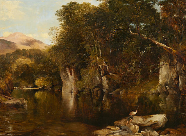 Frederick Richard Lee, RA (British, 1798-1879) The poacher 41 1/2 x 54in (105.4 x 137.2cm)