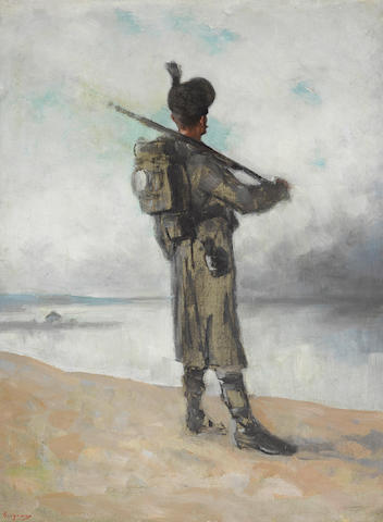 Nicolae Grigorescu (Romanian, 1838-1907) Danube guard (Santinela) 20 5/8 x 15in (52.5 x 38cm)