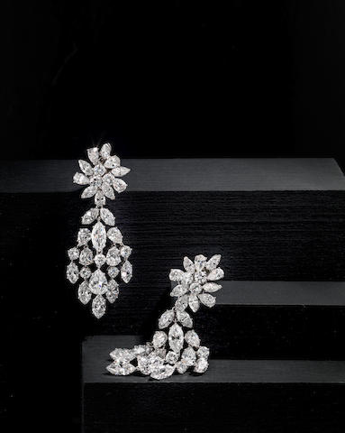 A pair of diamond day/night earrings, Van Cleef & Arpels,